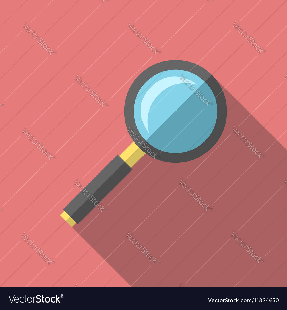 Magnifying glass flat style vector