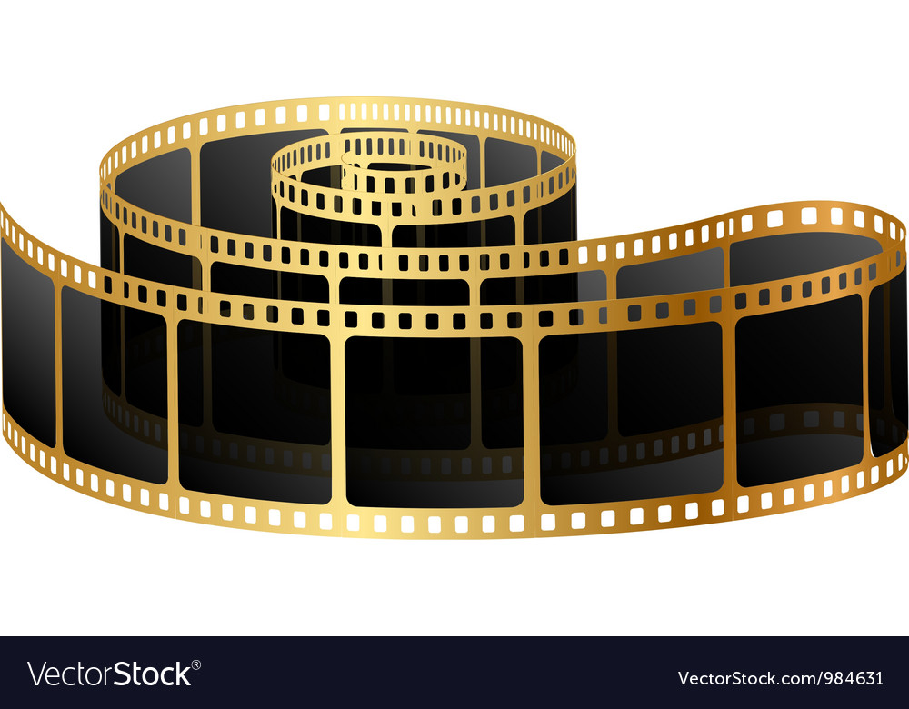 Golden film vector