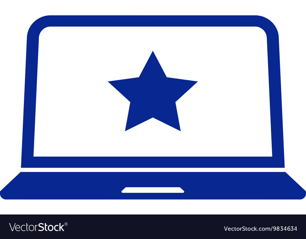 Flat paper cut style icon of laptop vector