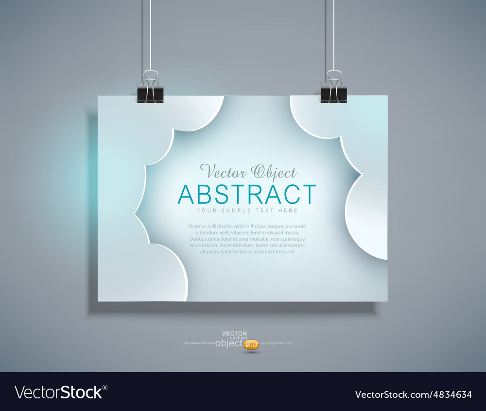 Grey template for design hanging on the wall vector