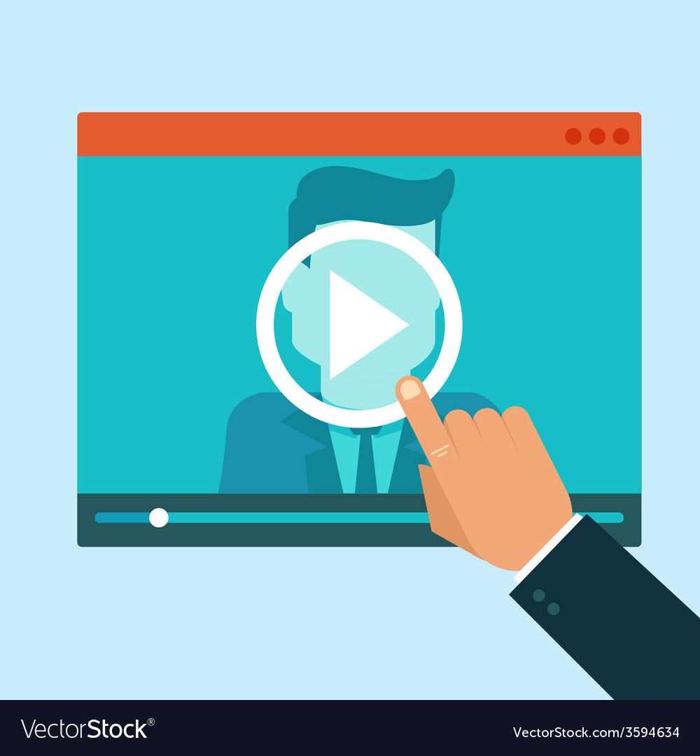 Webinar concept in flat style vector