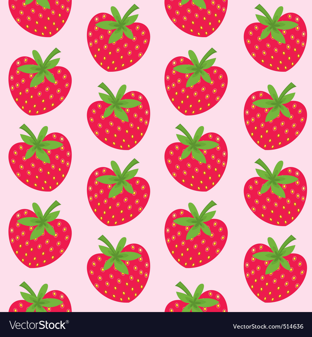 Seamless pattern with strawberries vector