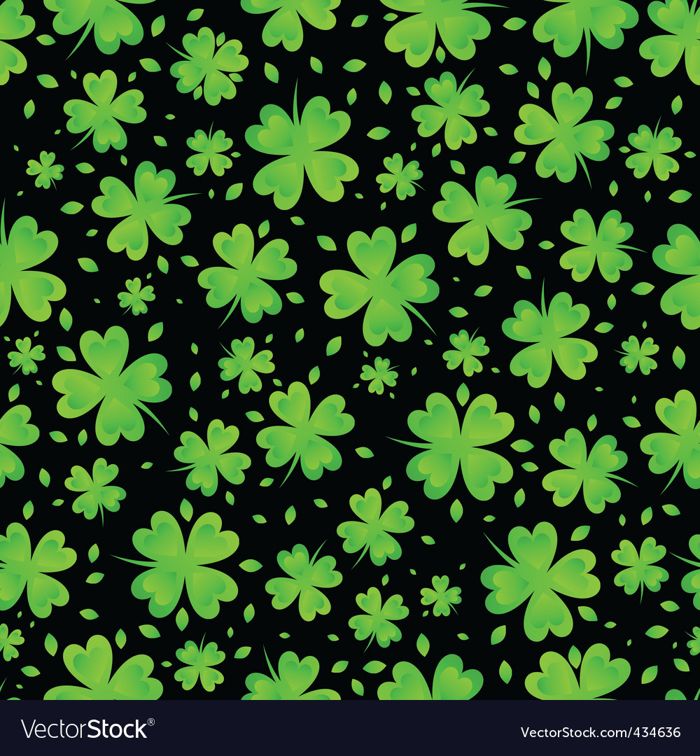 St patricks day clover vector
