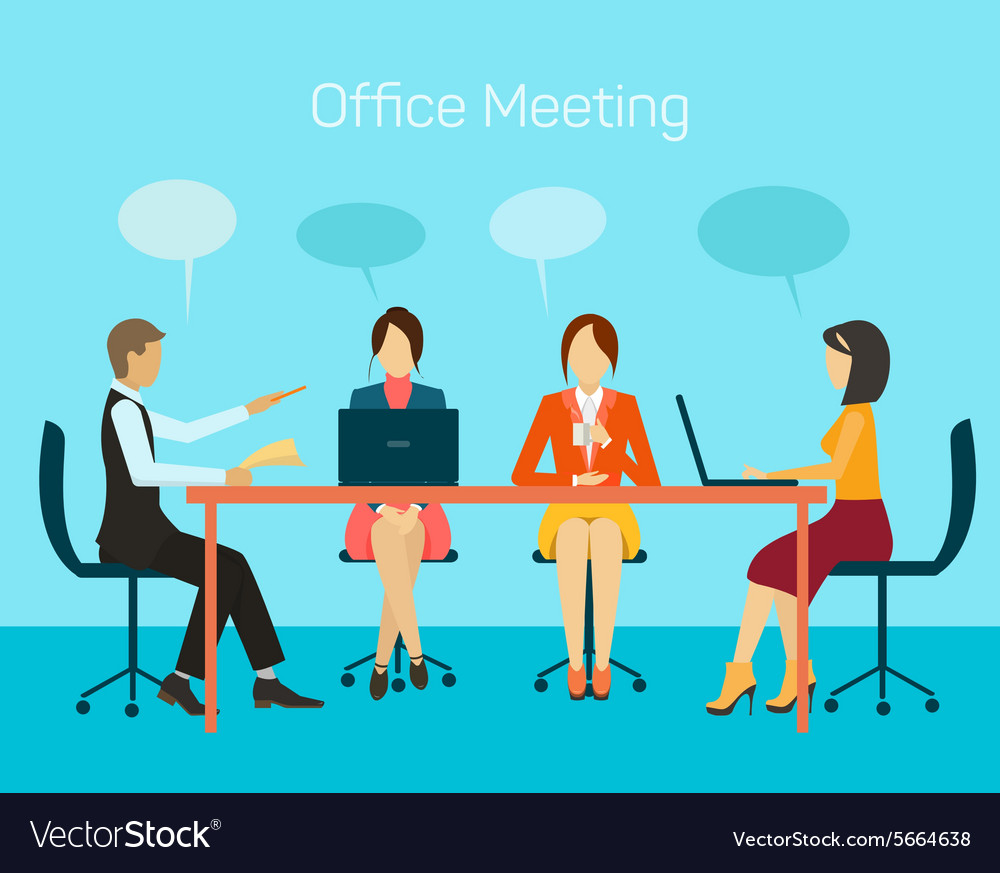 For business people man and woman vector