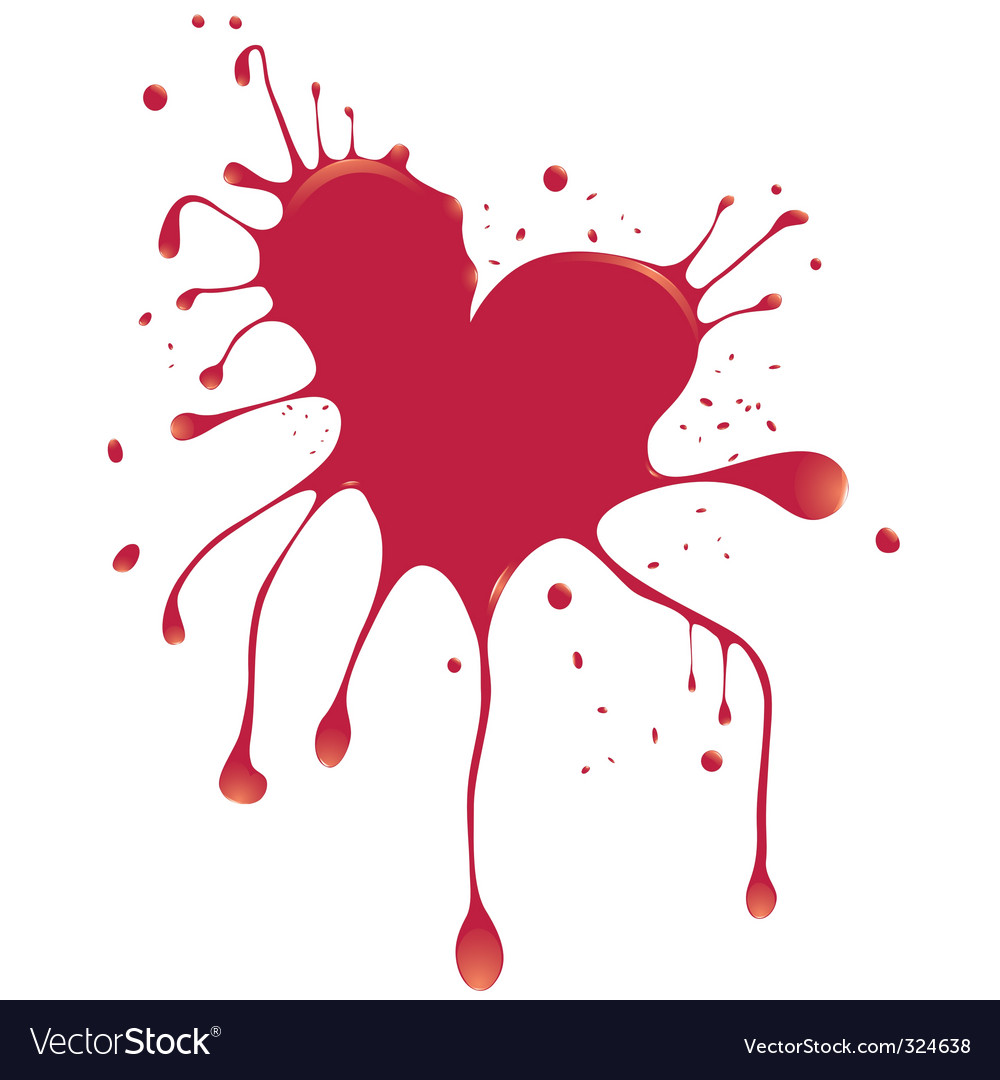 Heart with blood vector