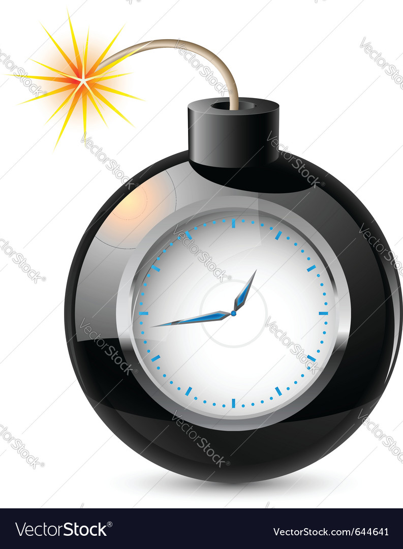 Clock in a bomb vector