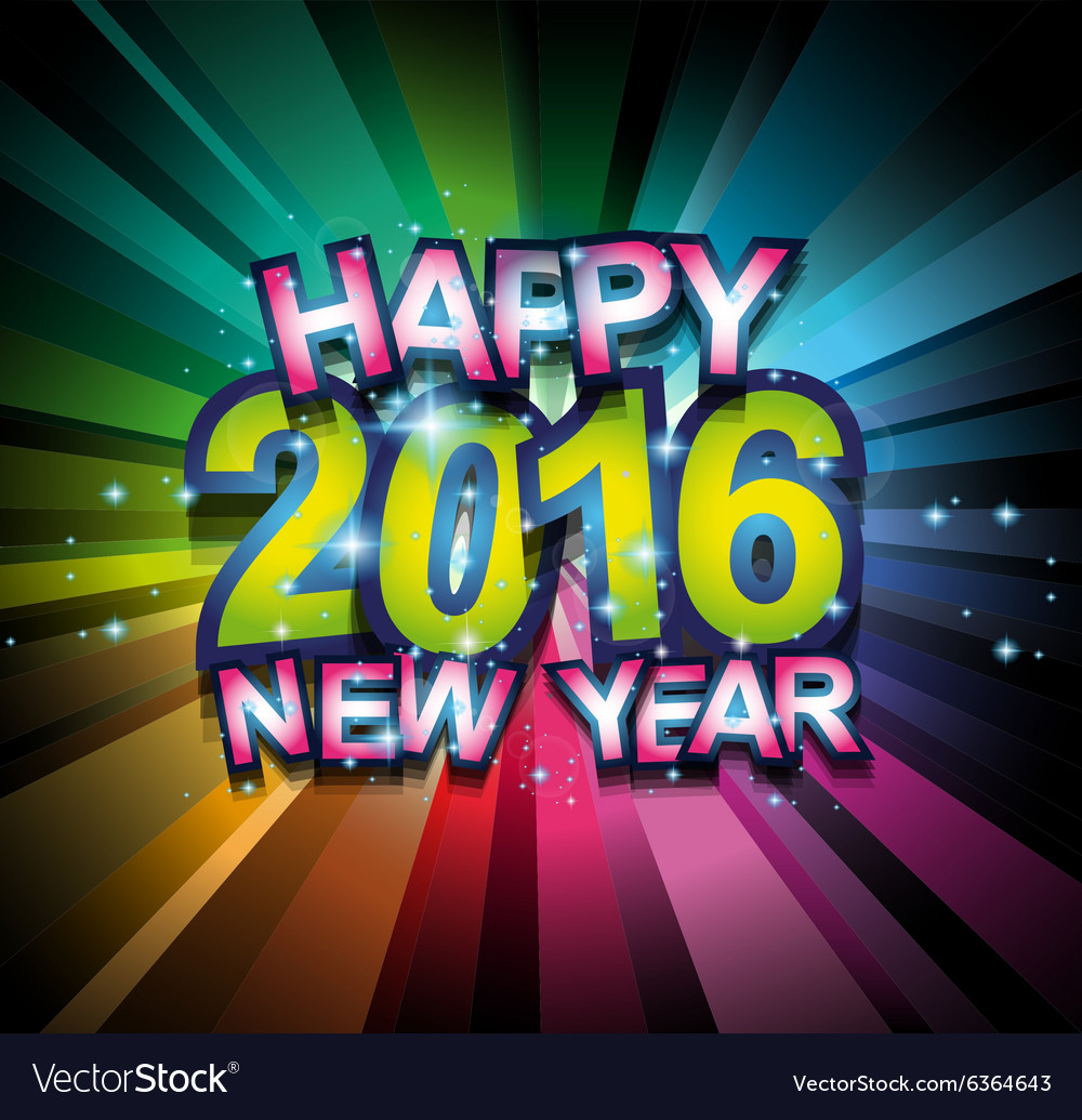 2016 happy new year background for your flyers vector