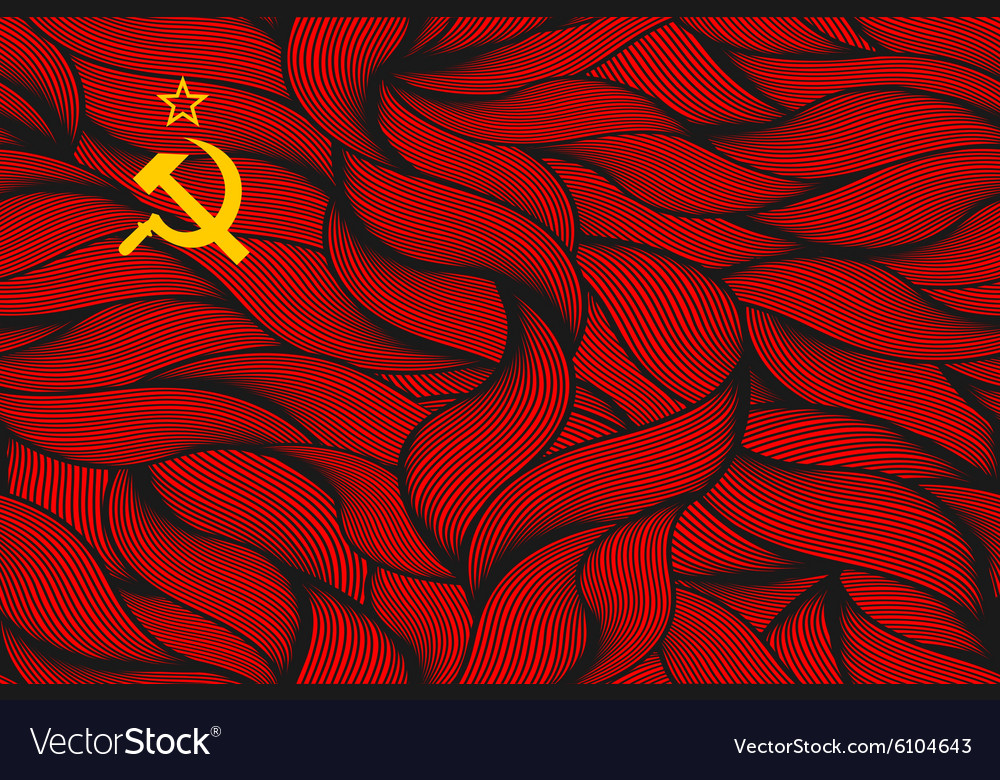 Abstract textured flag of soviet union vector