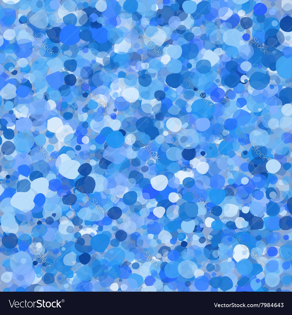 Blue abstract bubbles vector