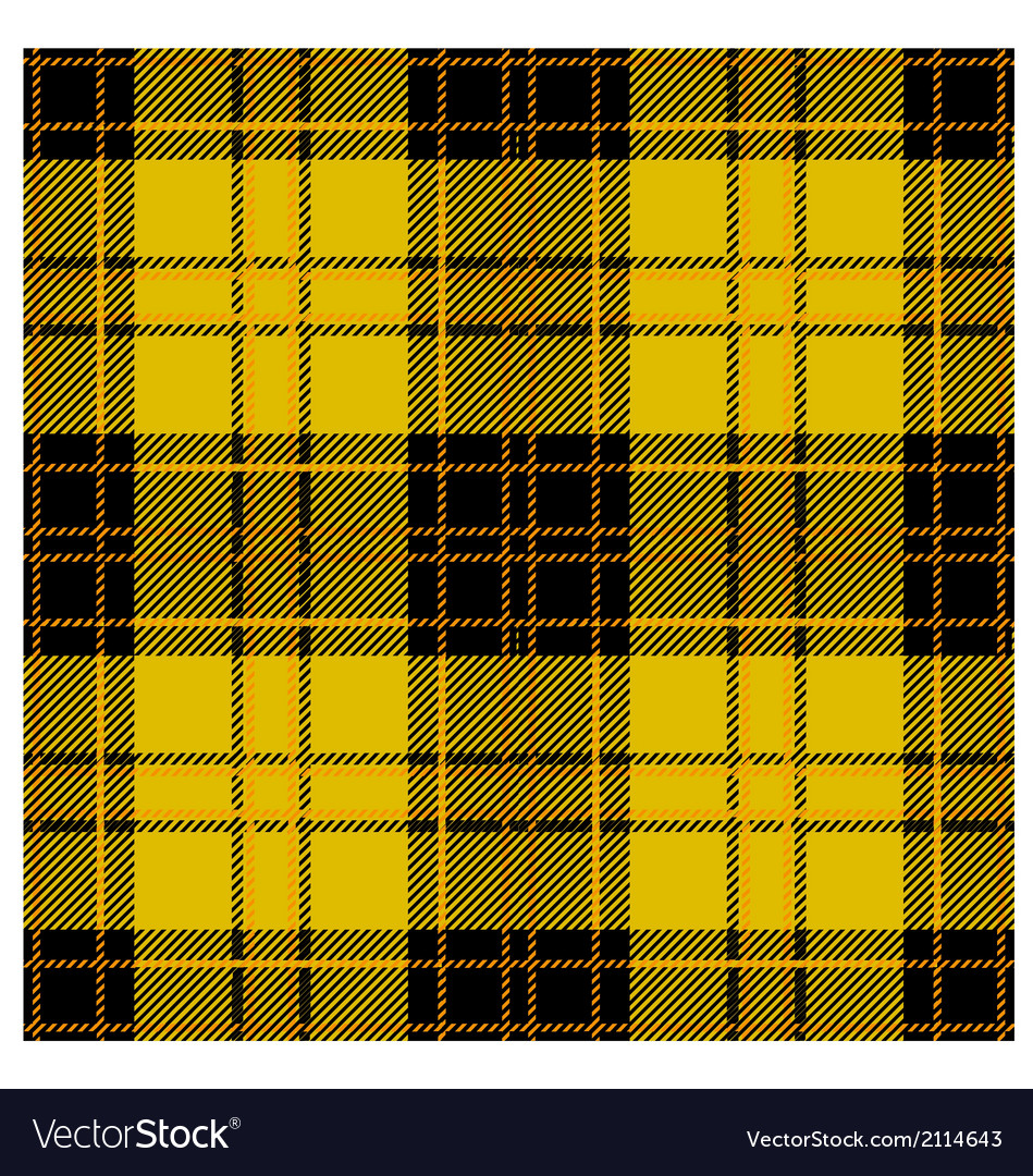 Seamless yellow tartan plaid design vector