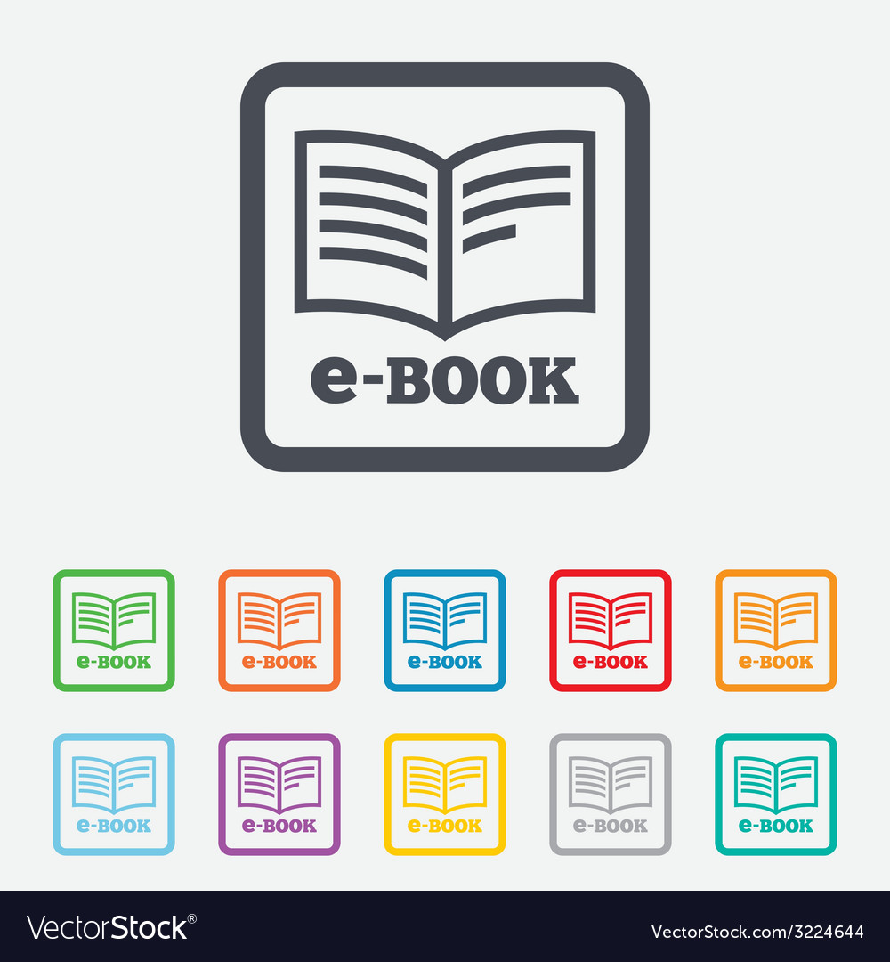 Ebook sign icon electronic book symbol vector