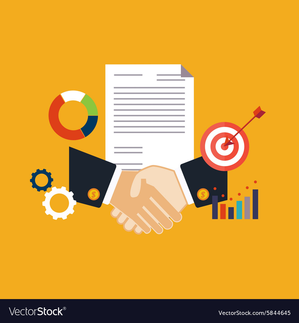 Deal shaking hands vector