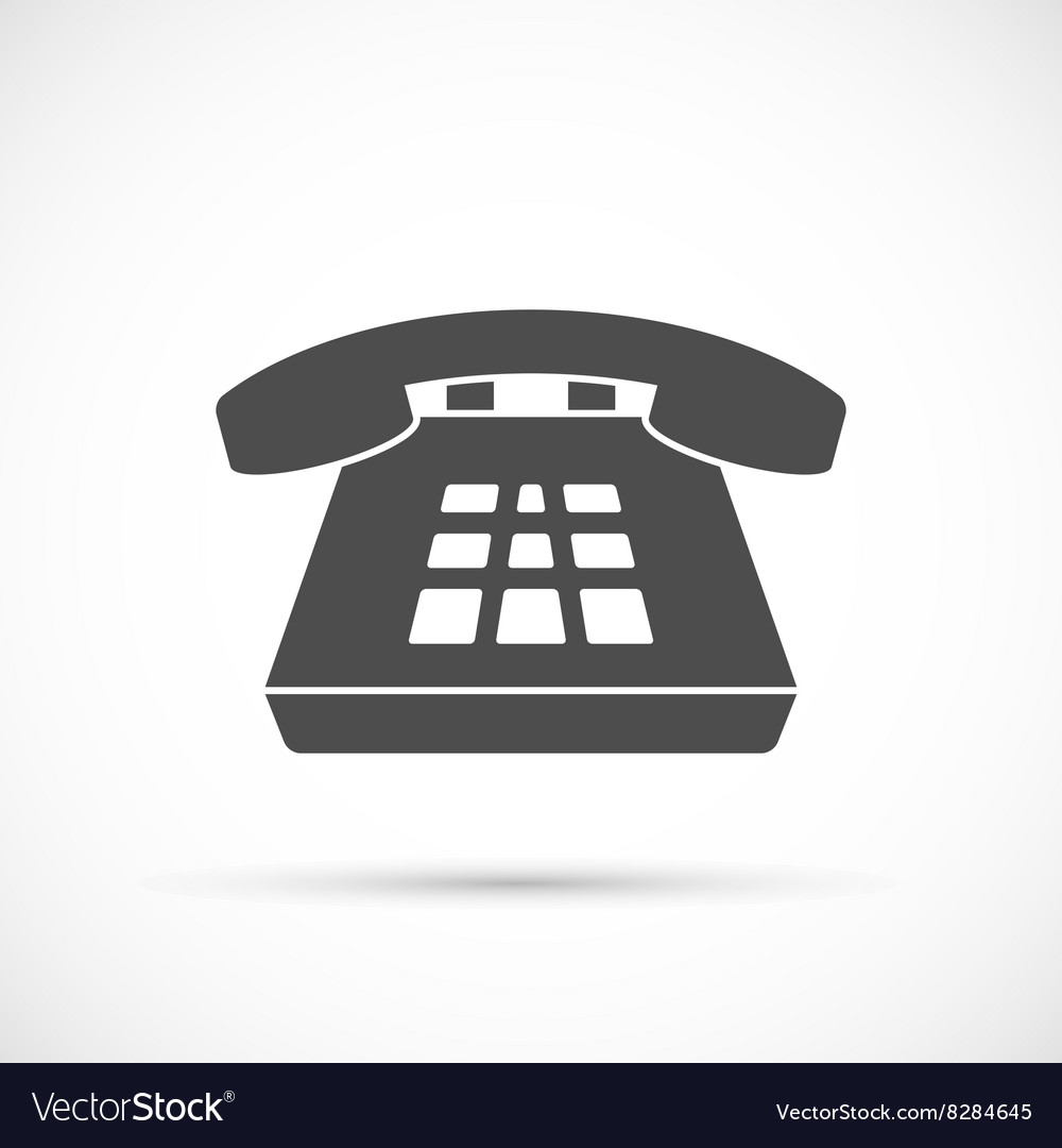 Desk phone icon vector