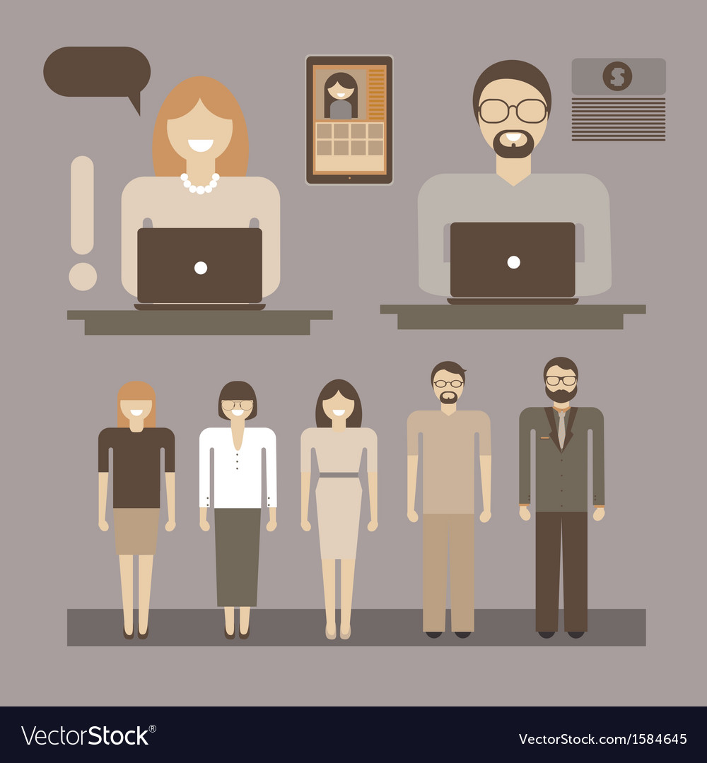 Office infographic people vector