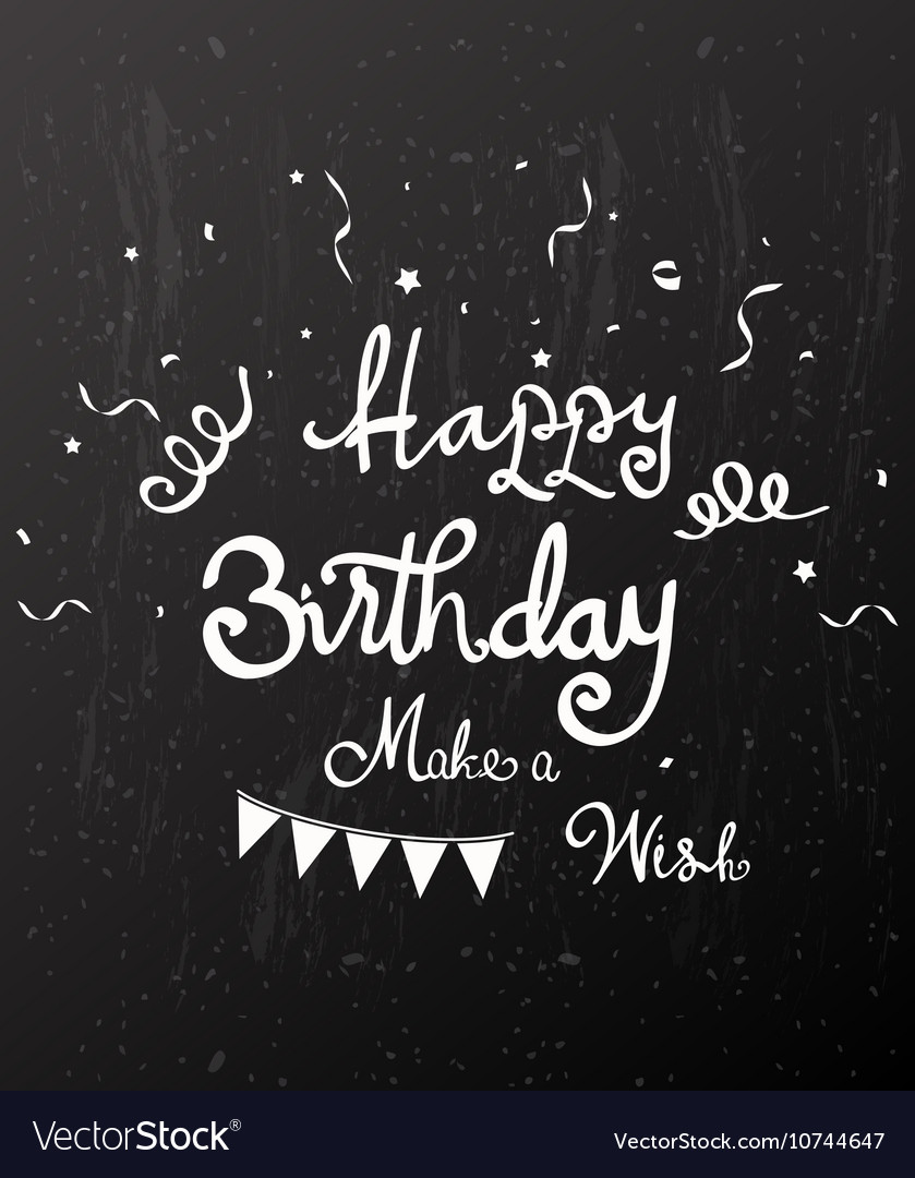 Happy birthday on chalkboard vector