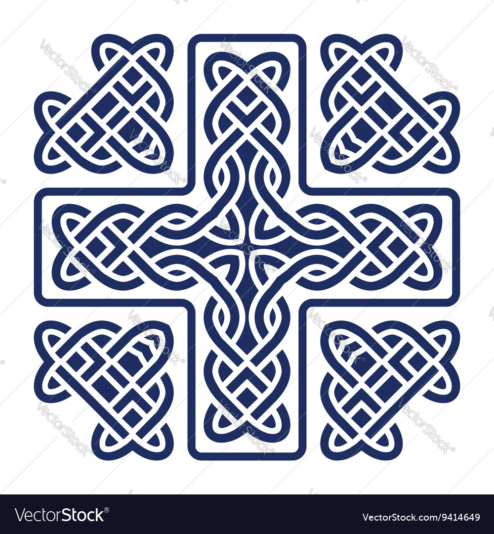 Celtic knot cross vector