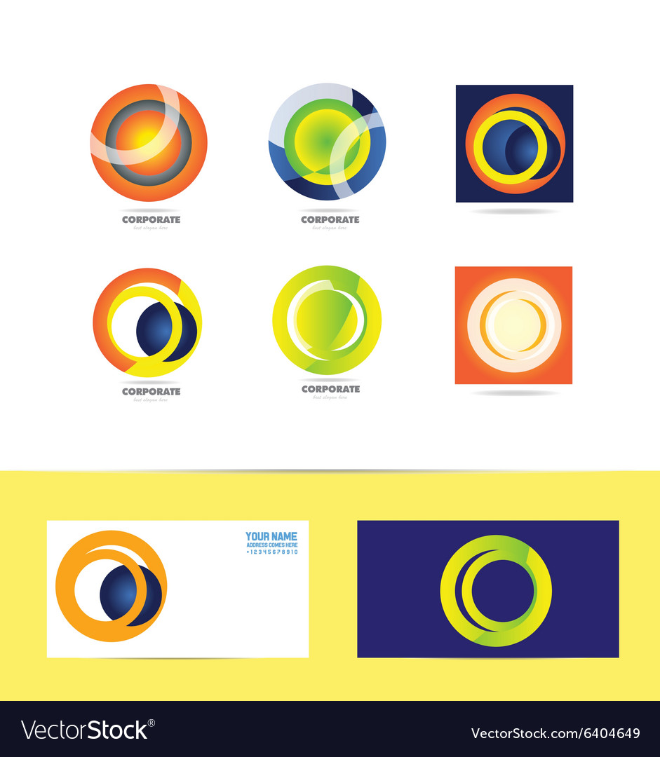 Corporate business circle logo vector