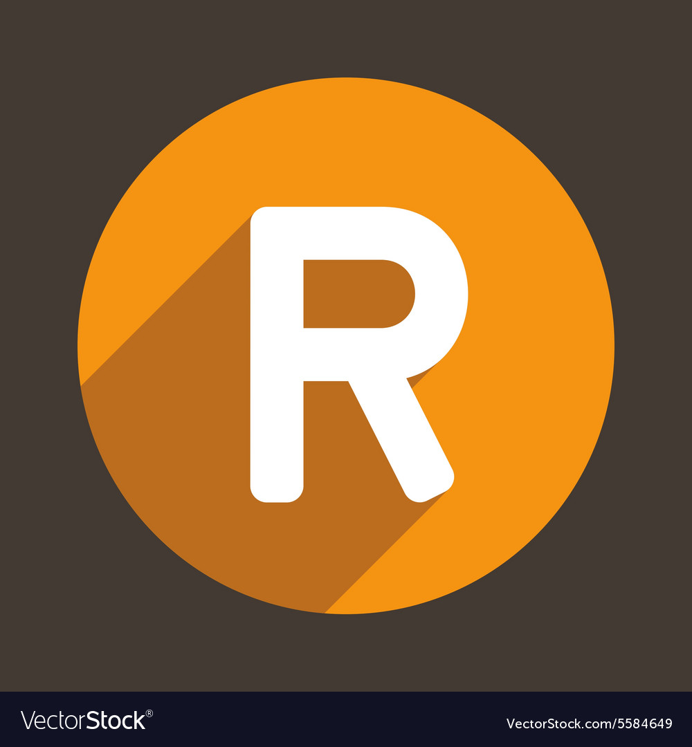Letter r logo flat icon style vector