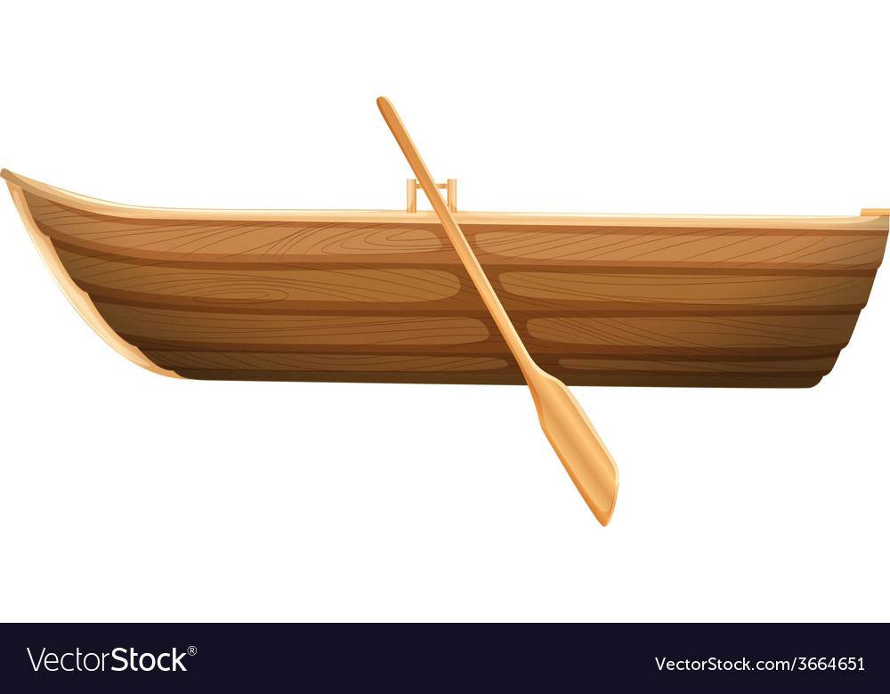 A wooden boat vector