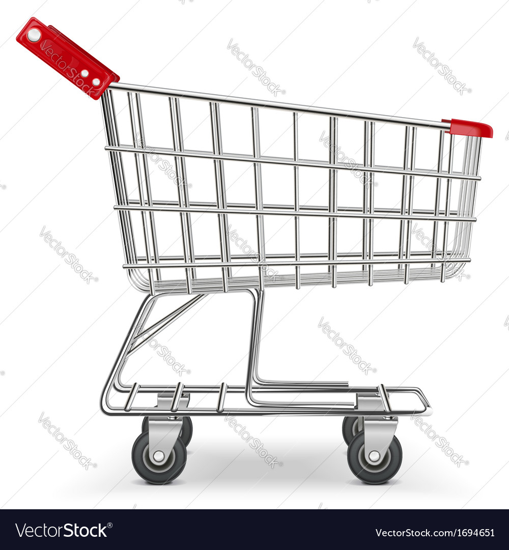 Supermarket cart vector