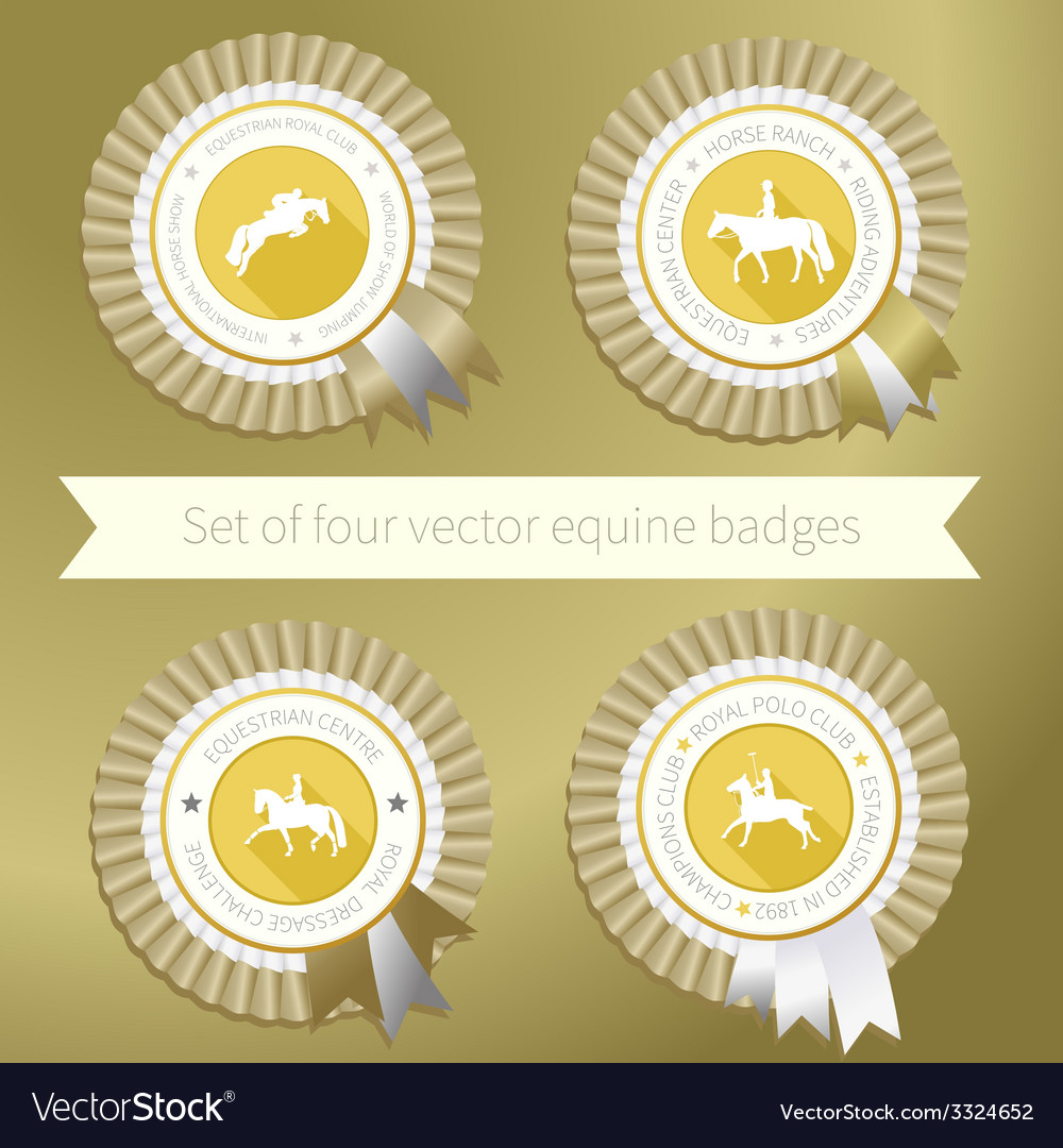 Equestrian rossettes vector
