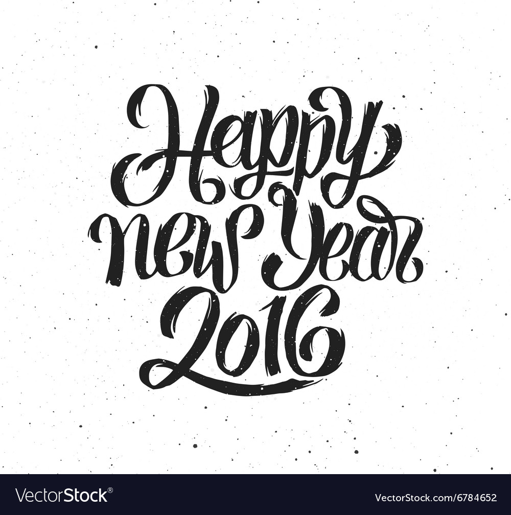 New year 2016 vintage greeting card vector