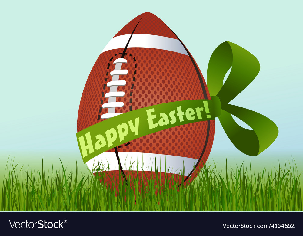 Rugby easter egg vector