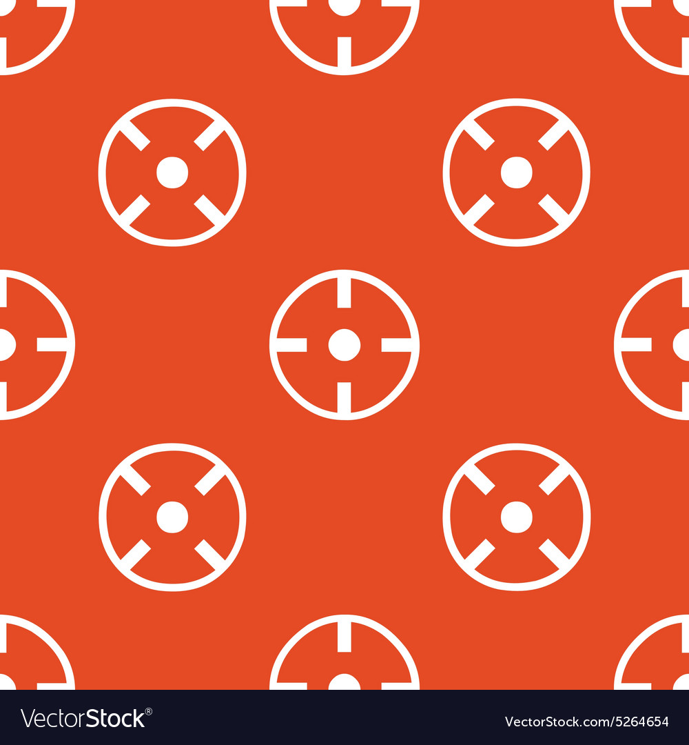 Orange aim pattern vector