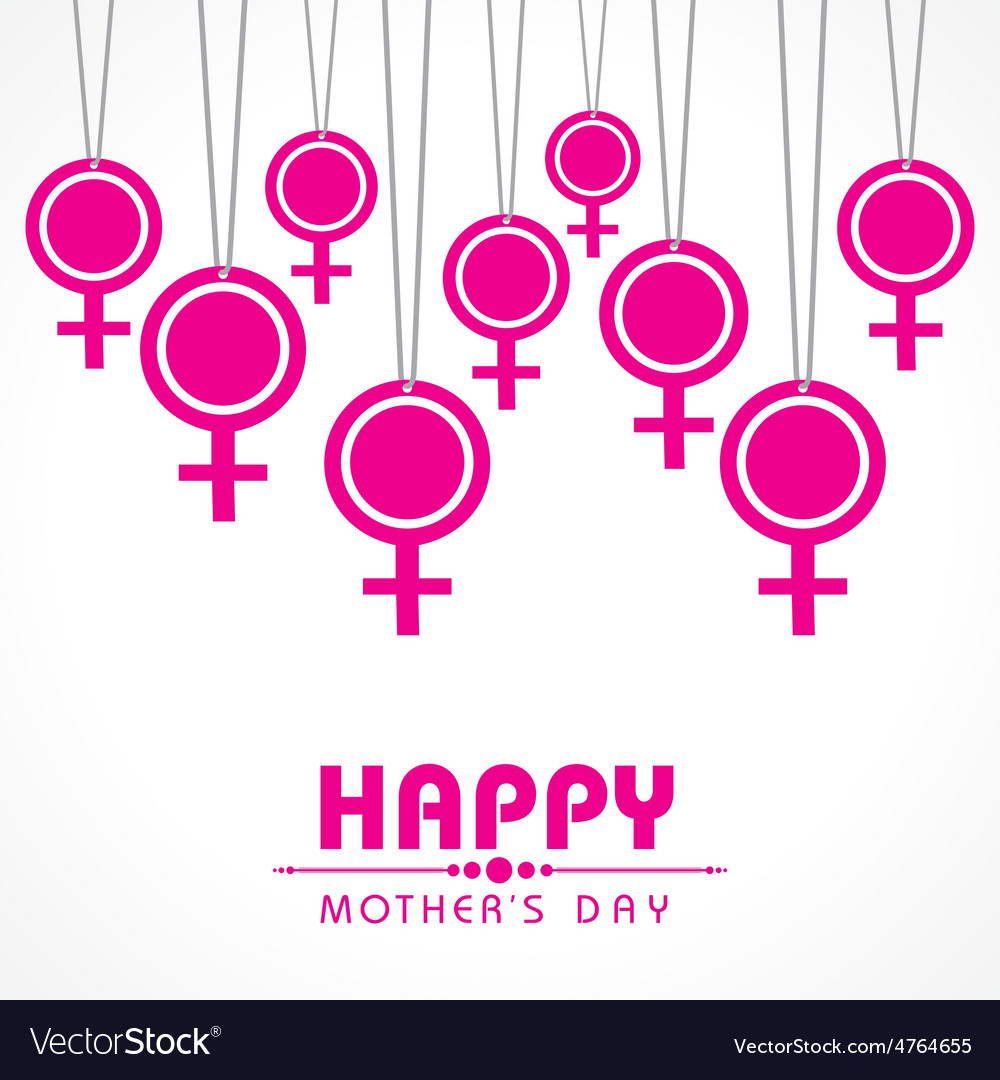 Mothers day greeting with female symbol vector