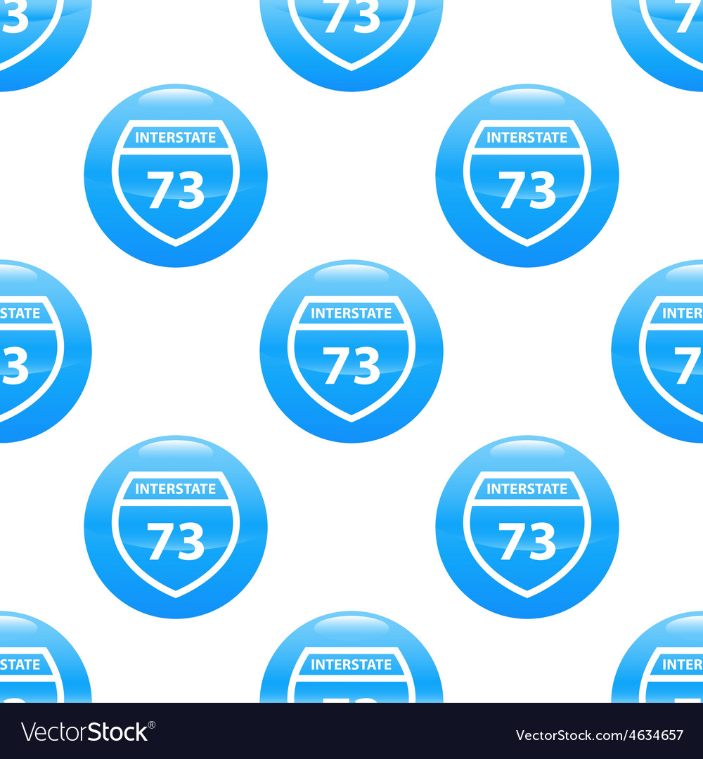 Interstate 73 sign pattern vector