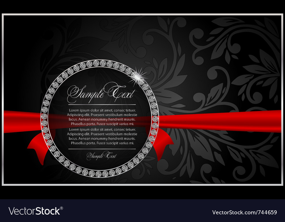 Diamond and ribbon vector