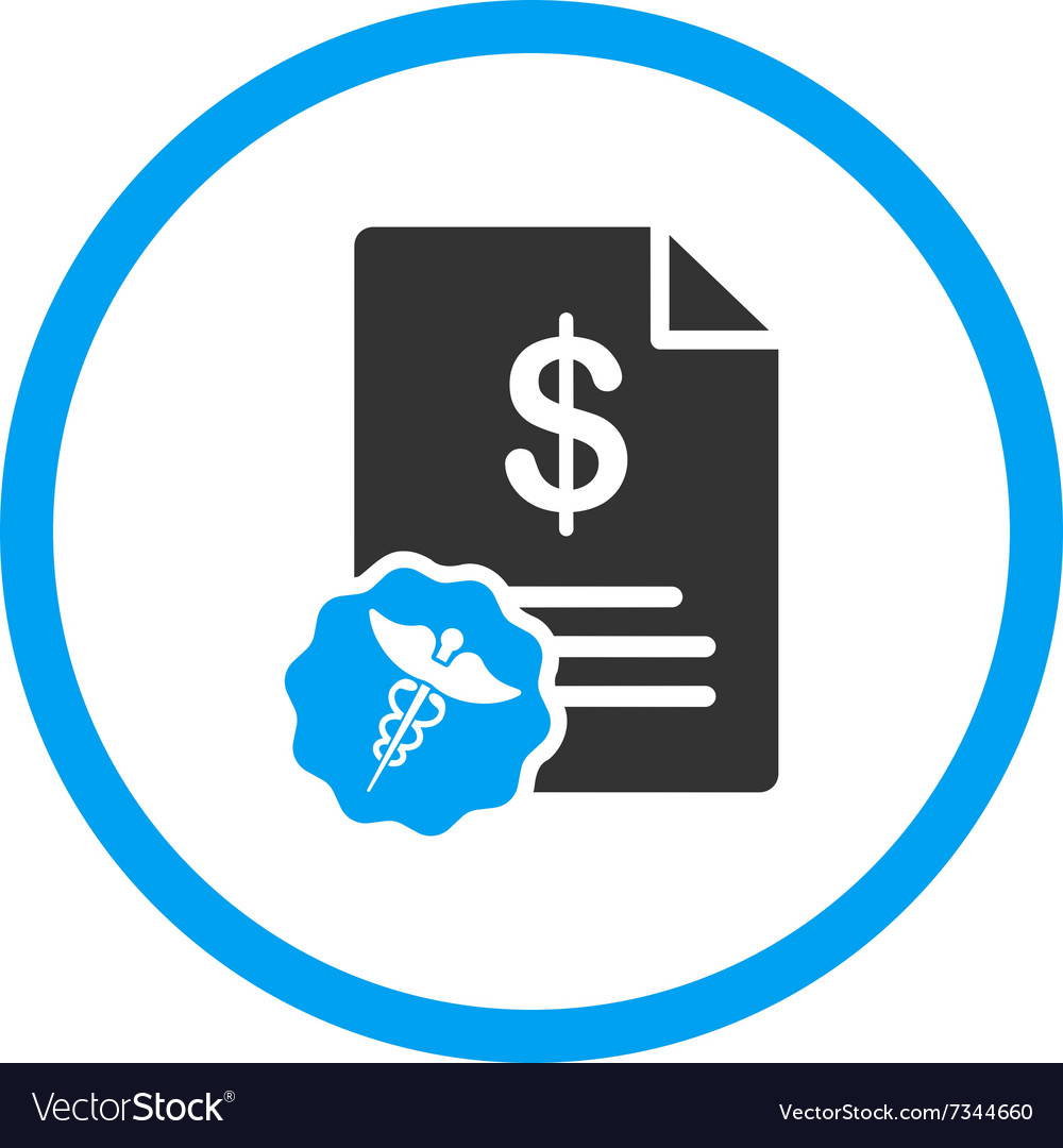 Medical bill icon vector