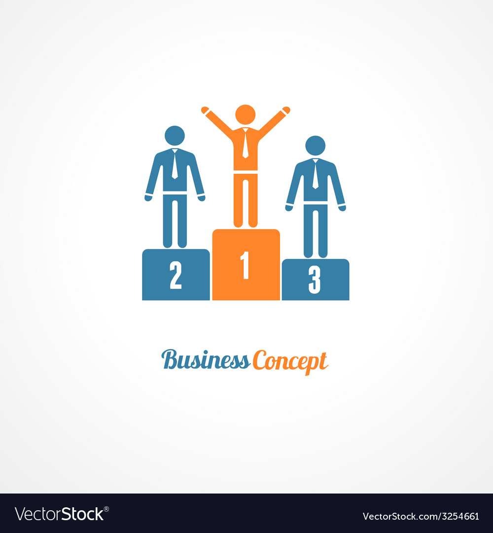 Business winners podium symbol vector