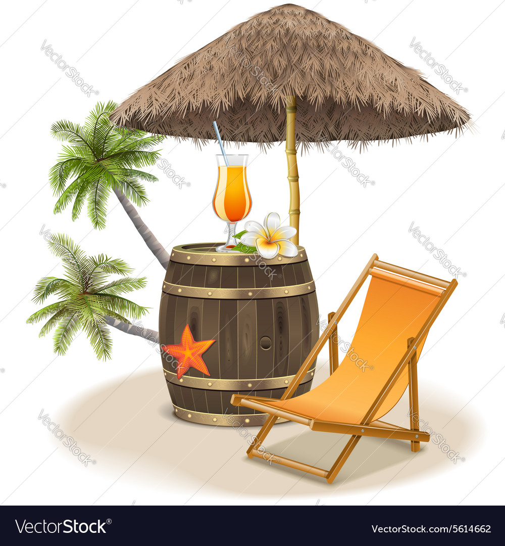 Beach bar concept vector