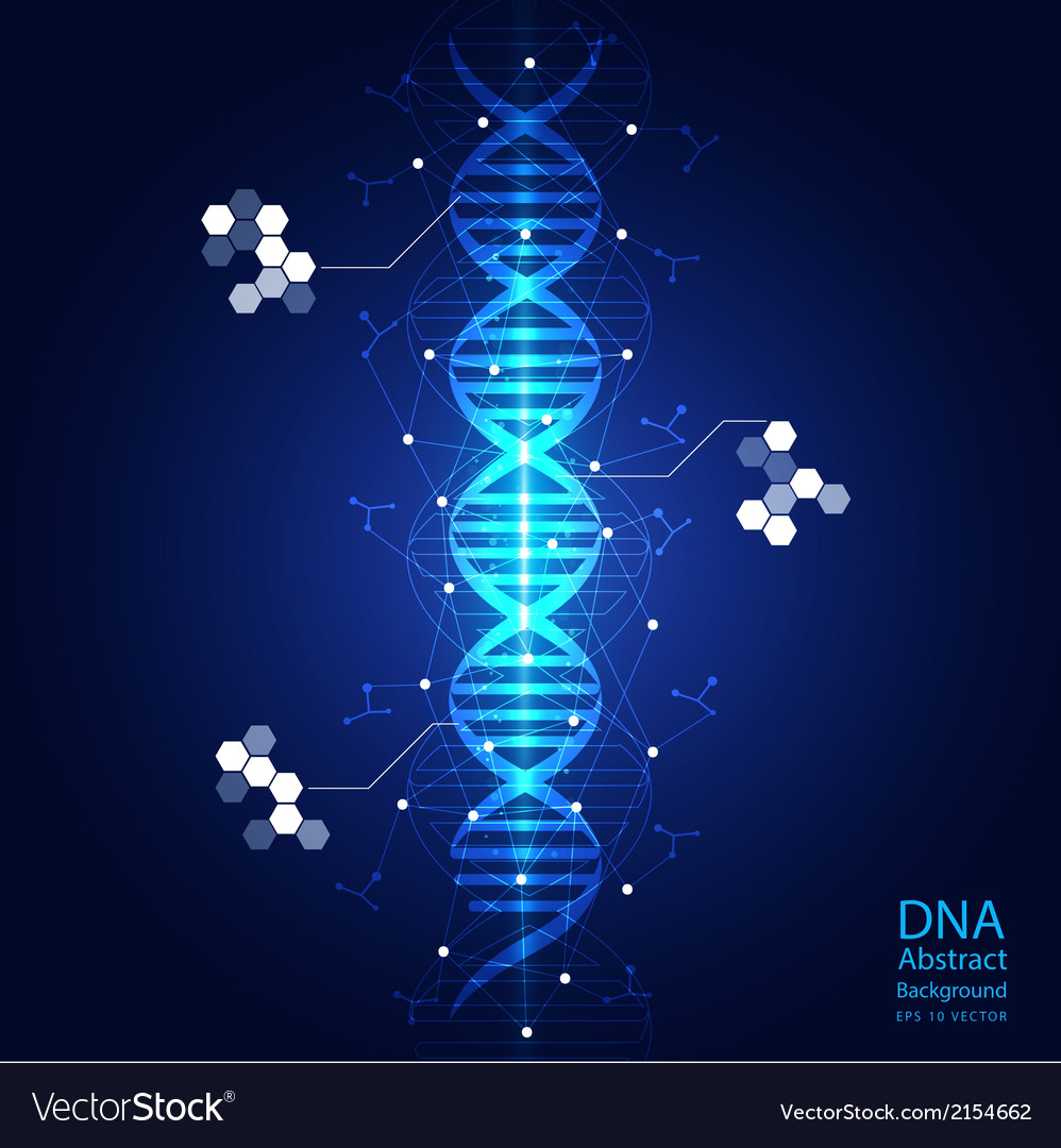 Dna abstract light blue background vector