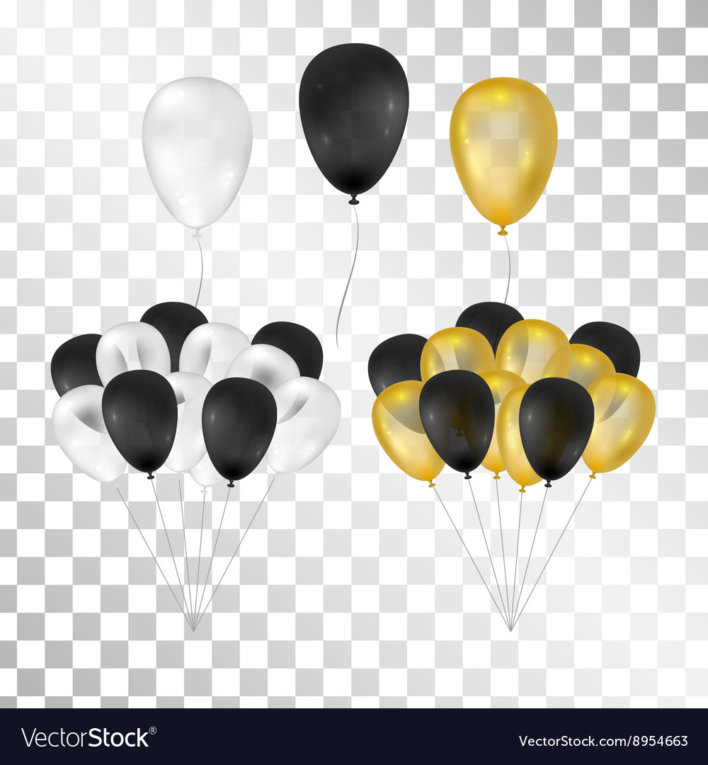 Balloons on transparent background vector