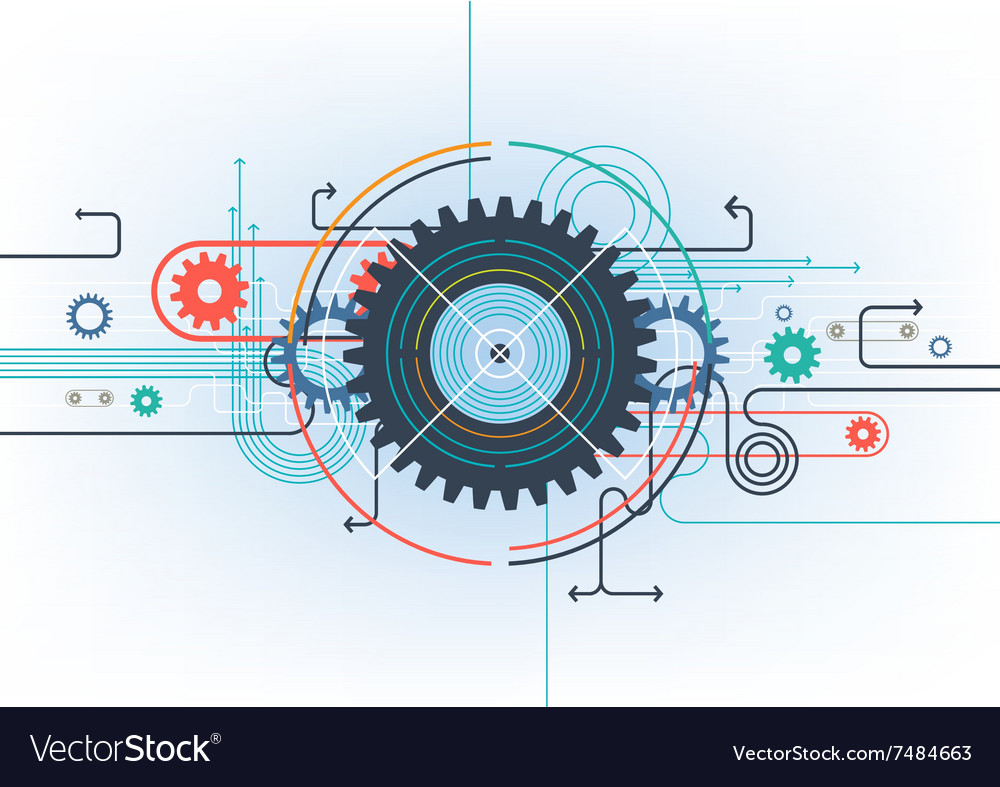 Business technology background vector
