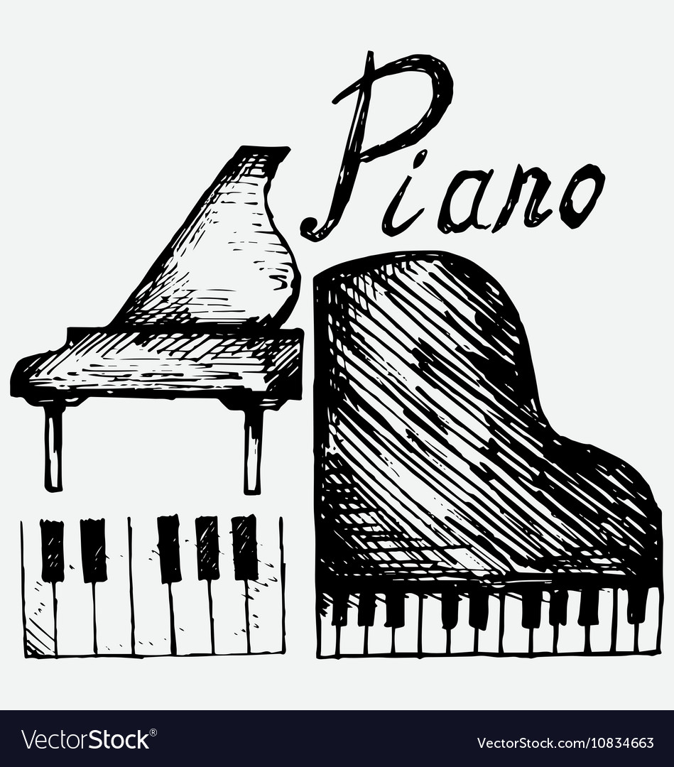 Set piano vector