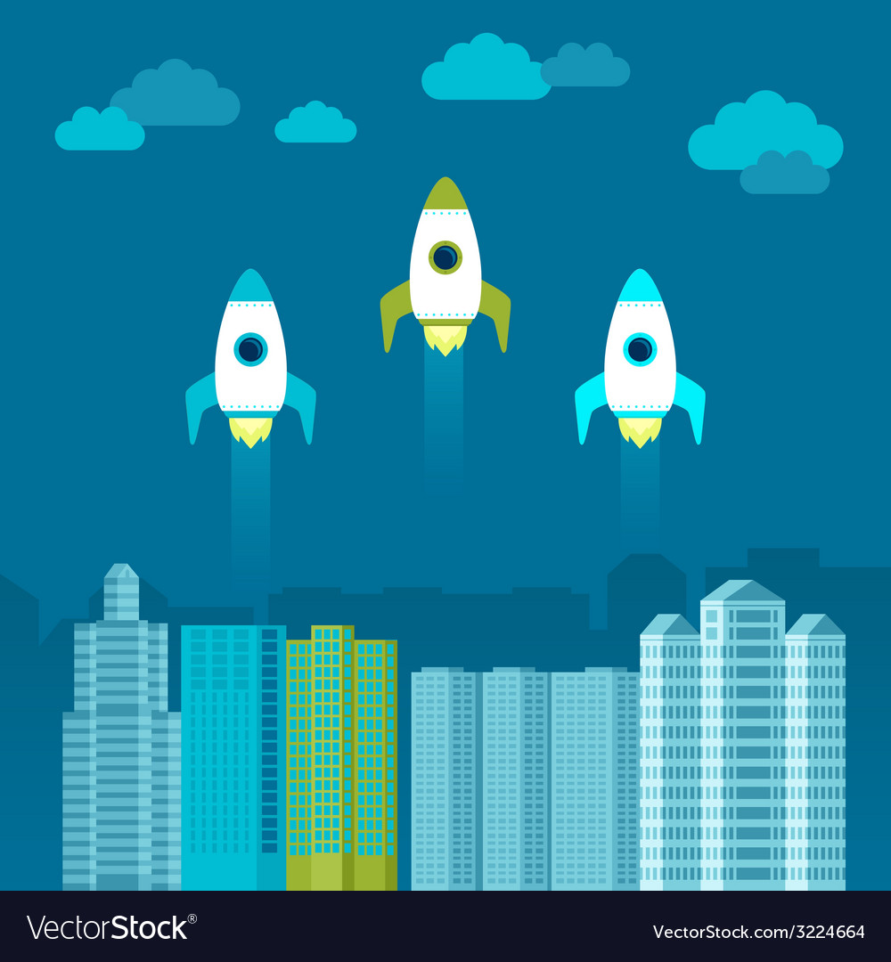 Start up concept in flat style vector