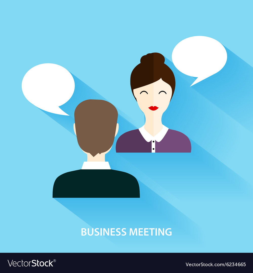 Businessmen and businesswoman having informal vector