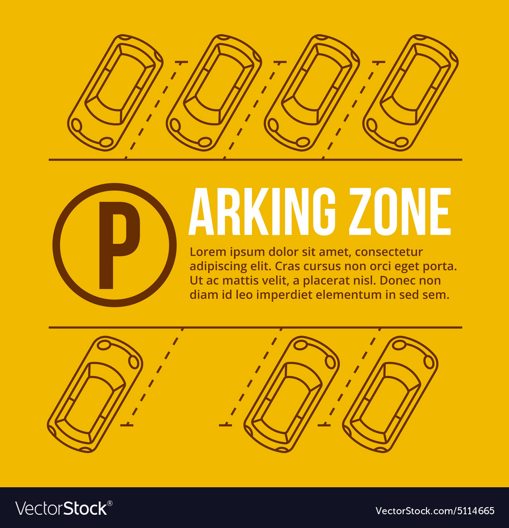 Parking lot vector