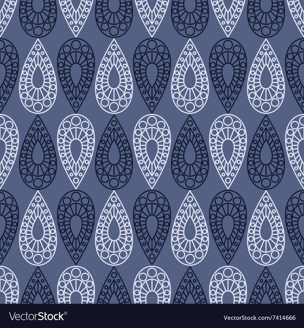 Background with drops decorative repeating ornamen vector