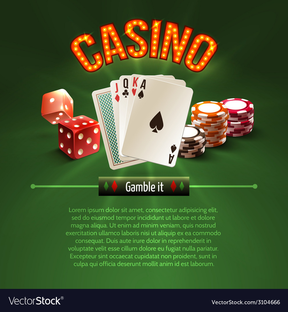 Pocker casino background vector