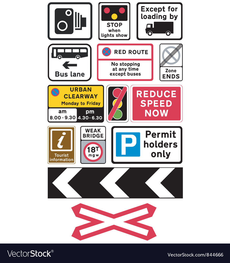 Road traffic signs vector