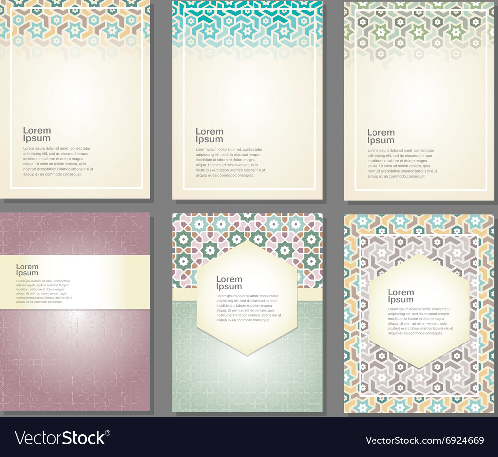 Banners set of islamic vector