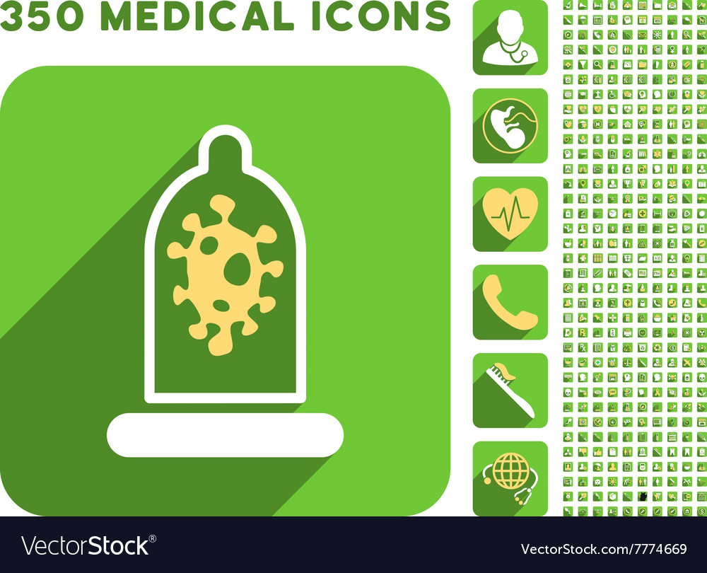 Infection condom protection icon and medical vector