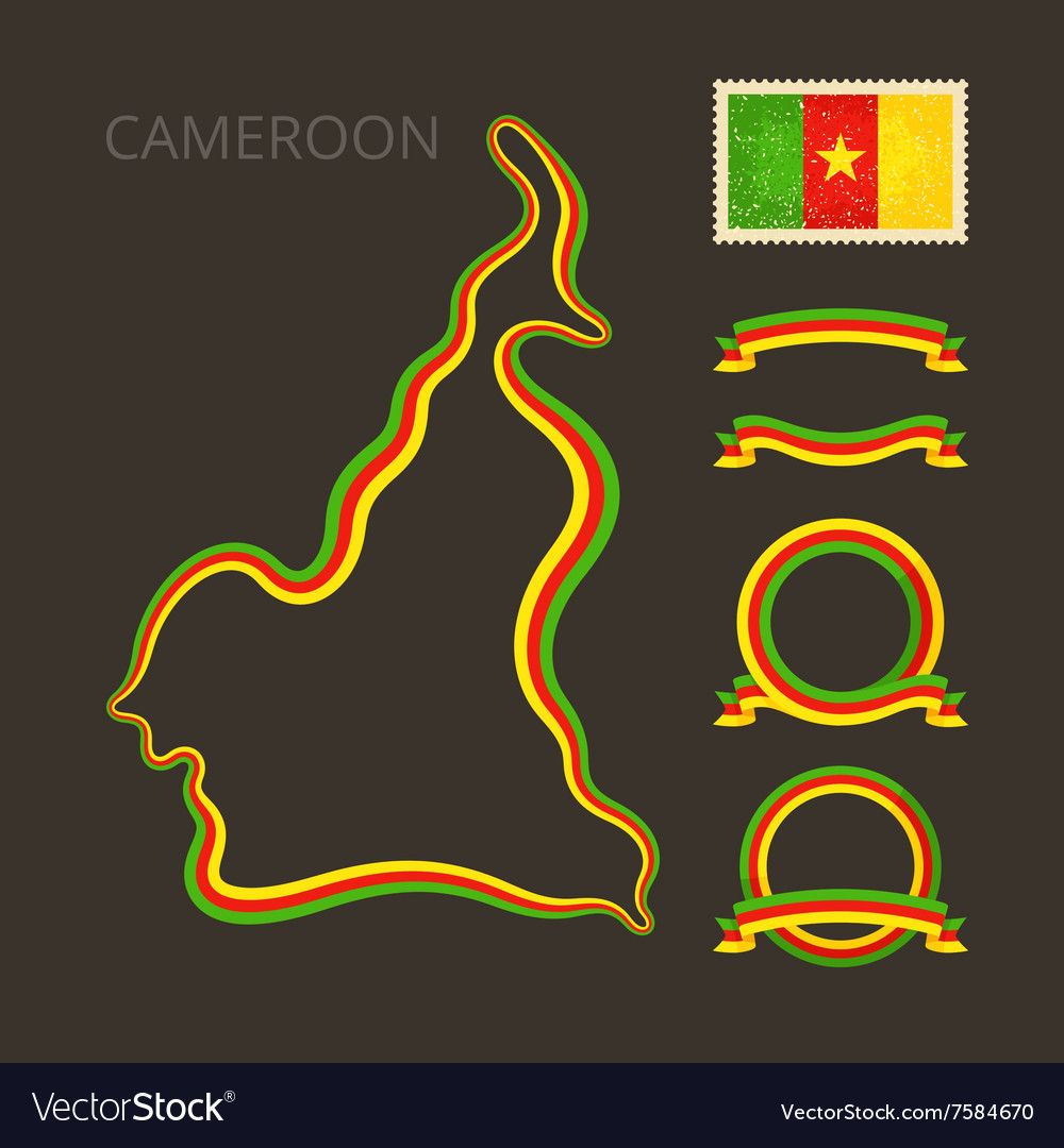 Colors of cameroon vector