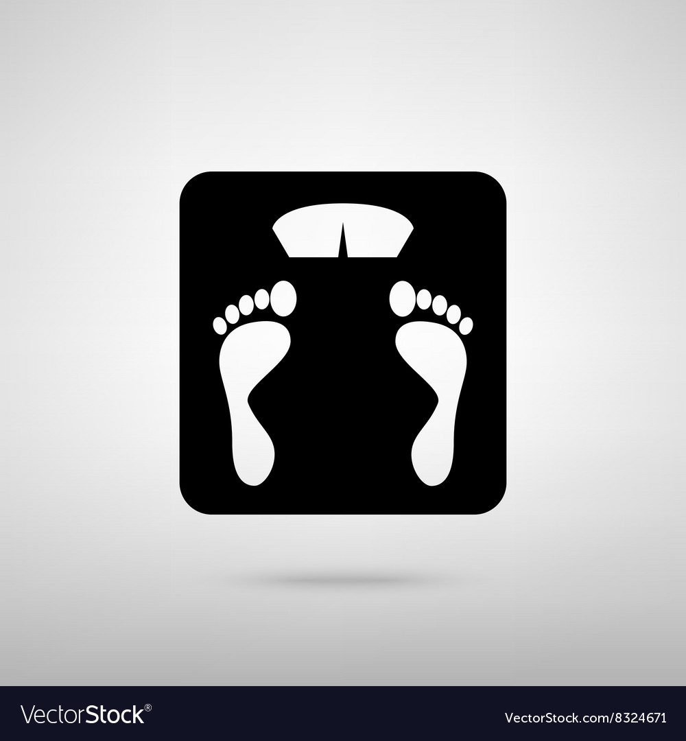 Bathroom scale sign vector