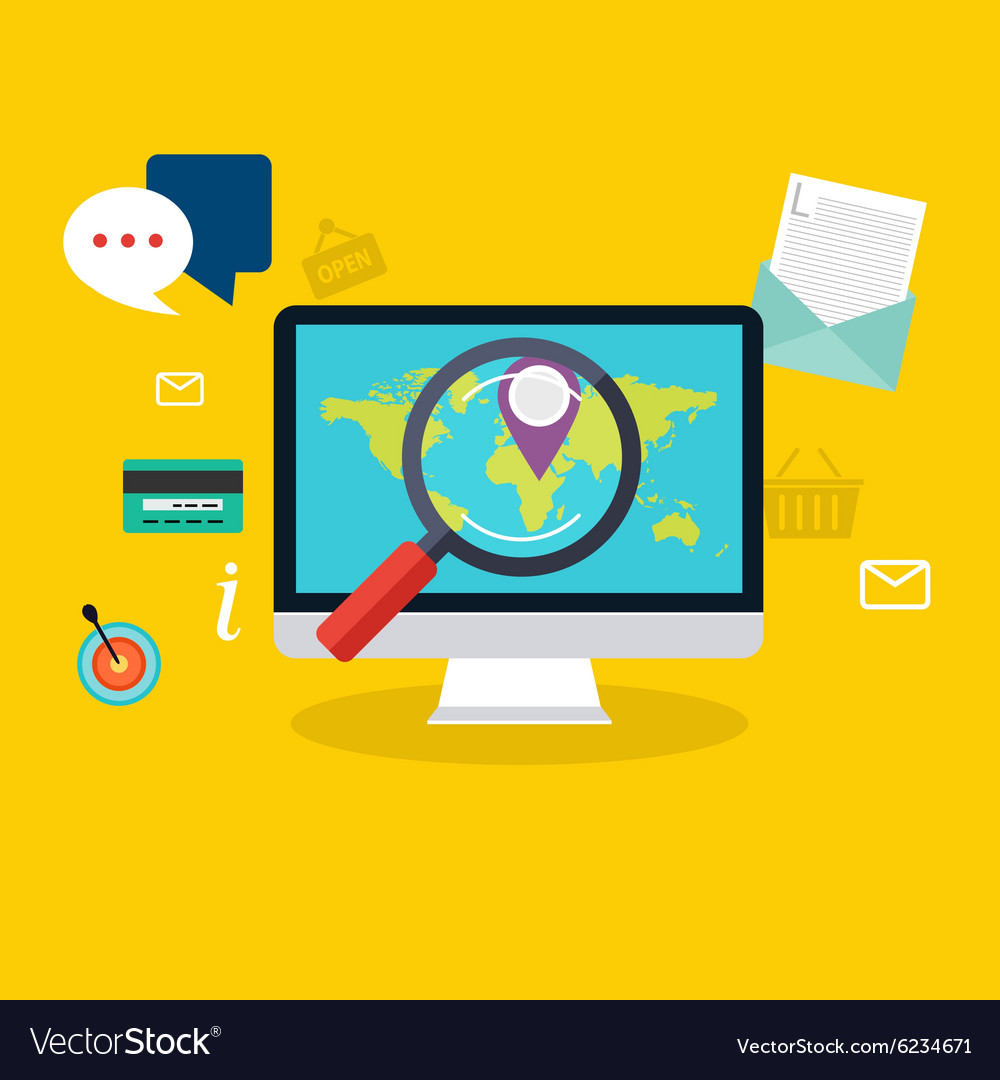Social media flat modern design concept local vector