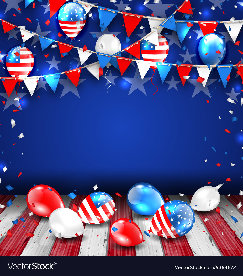 Colorful template for american holidays vector